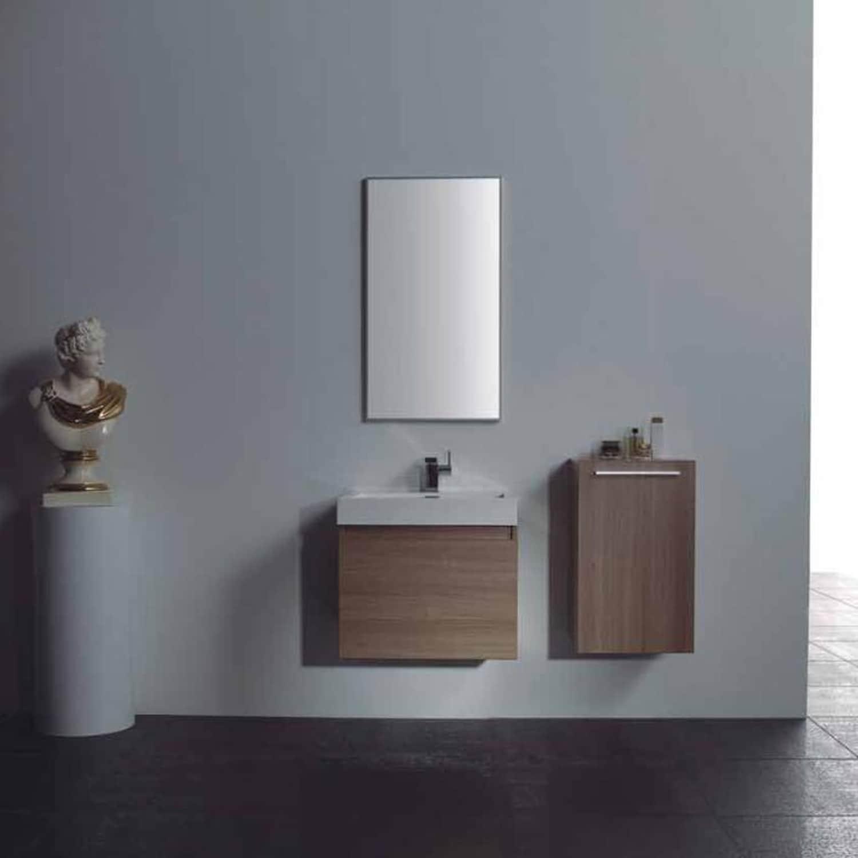 Eviva Drop 24 Light-Oak Vanity with White Acrylic Sink - N/A