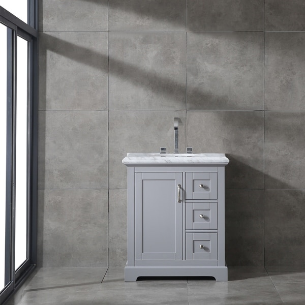Eviva Houston 30 in. Grey Bathroom Vanity