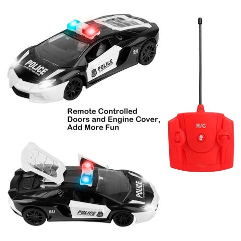 RC Cars for Kids, Remote Control Police Car High Speed Racing Car with Flashing Lights and Siren Sounds, 1:16 Scale