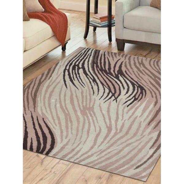 Animal Print Hand Tufted Modern Wool Carpet Indian