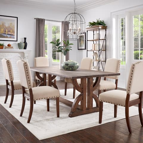 Paloma Brown Finish Reclaimed Wood Dining Set by iNSPIRE Q Artisan