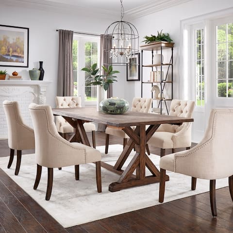 Paloma Antique Brown Reclaimed Wood Dining Set by iNSPIRE Q Artisan