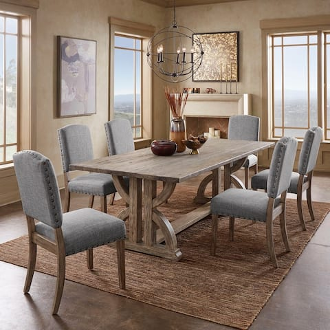 Paloma Grey Finish Reclaimed Wood Dining Set by iNSPIRE Q Artisan
