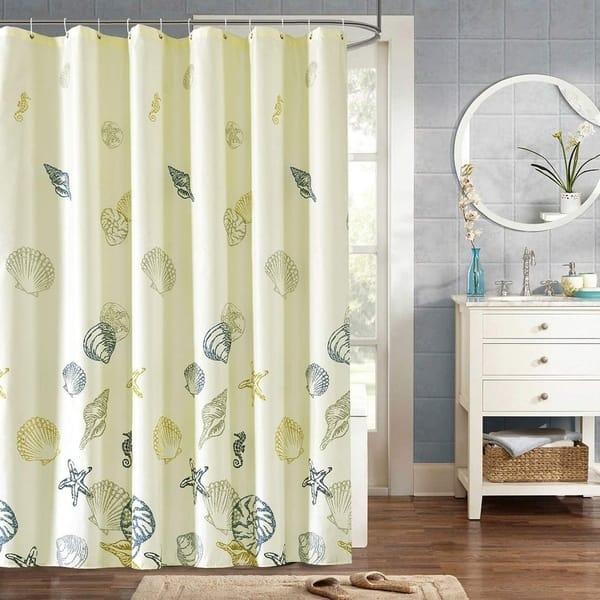 Banana Tree Waterproof Bathroom Polyester Shower Curtain Liner Water Resistant