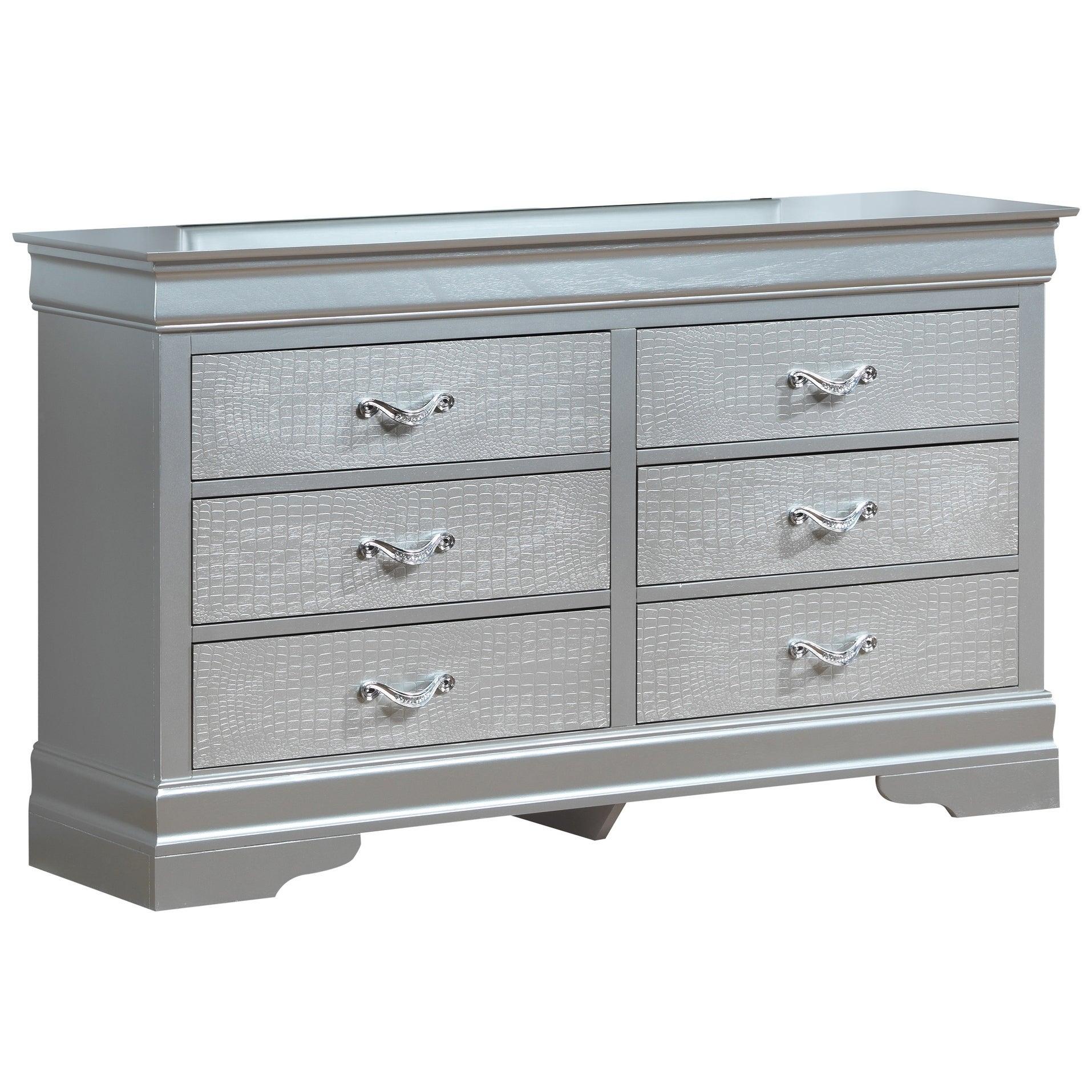 LYKE Home Luna Silver Dresser