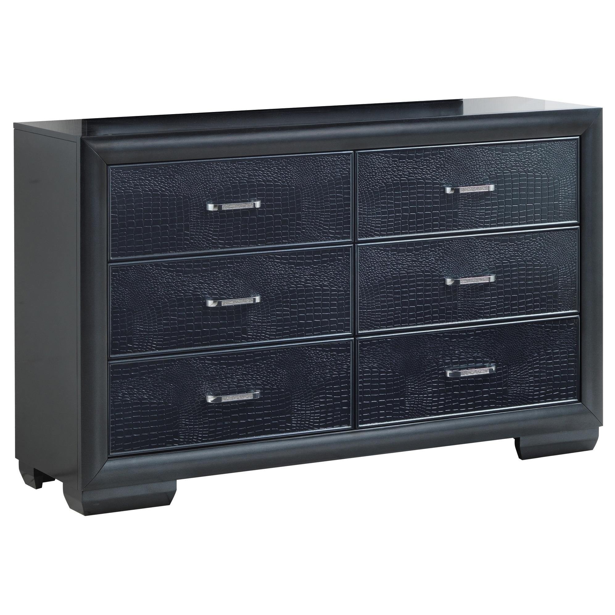 LYKE Home Grace Pearl Black Dresser