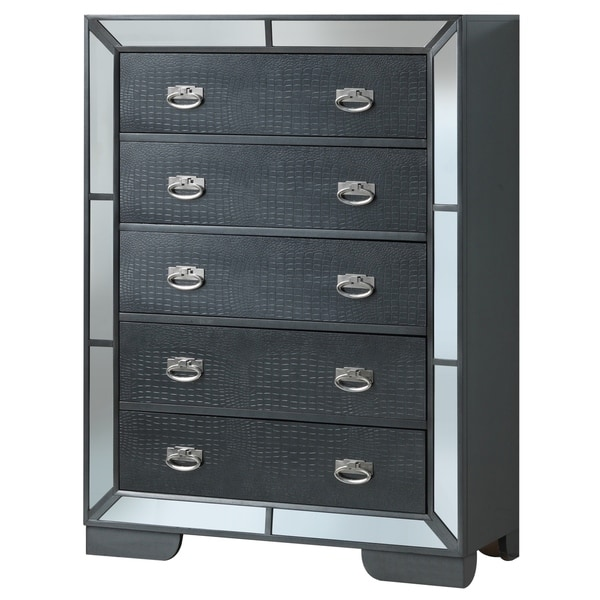 LYKE Home Holly Charcoal Chest