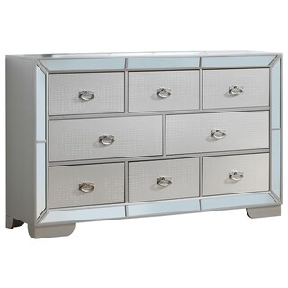 LYKE Home Holly Silver Champagne Dresser