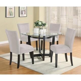 Leander 5-piece Round Dining Set (Grey)