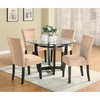 Leander 5-piece Round Dining Set (Taupe)