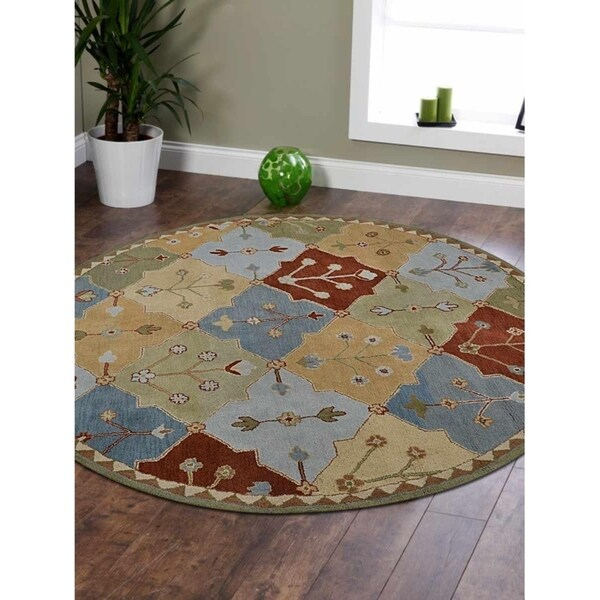 Indoor Traditional Oriental Carpet Wool Indian Hand Tufted Area Rug