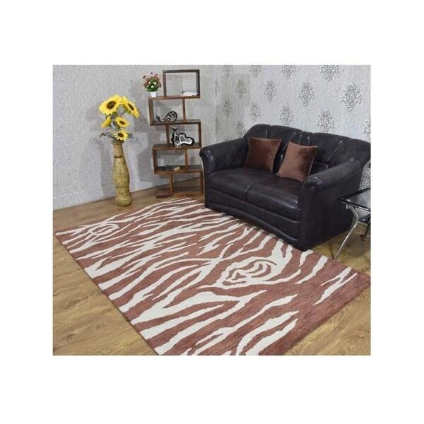Oriental Modern Indian Carpet Hand Tufted Wool Animal Print Area Rug