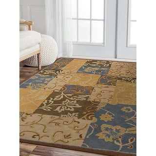 Traditional Patchwork Hand Tufted Wool Carpet Indian Oriental Area Rug