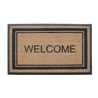 "A1HC First Impressions Welcome Markham Border Double Door, Heavy Duty 30"" x 48"" Doormat"
