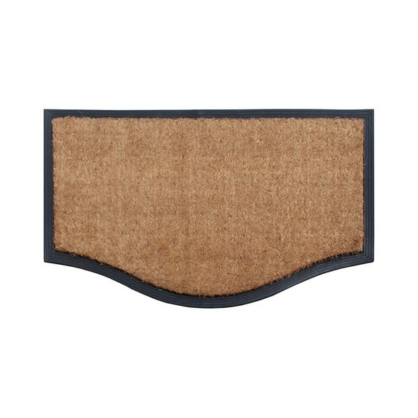 """A1HC Rubber And Coir Black/Beige Extra Large Double Doormat,Heavy Duty,Non-Slip 23.6""""X37.4"""". Opens flyout."""