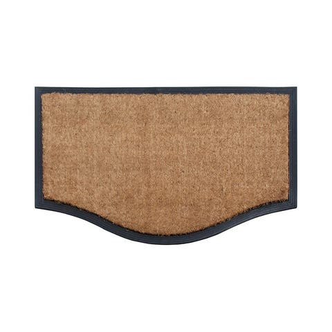 """A1HC Rubber And Coir Black/Beige Extra Large Double Doormat,Heavy Duty,Non-Slip 23.6""""X37.4"""""""