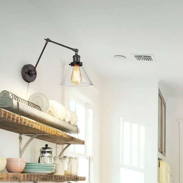 Shop Carbon Loft Baka Swing Arm Wall Lamp Plug-in Adjustable ...