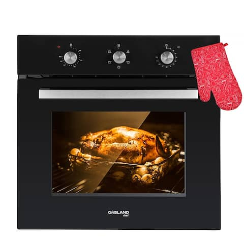 Gasland Chef ES606MB 24'' Built-in Single Wall Oven, 6 Cooking Function, Black Glass Electric Wall Oven, ETL Certified