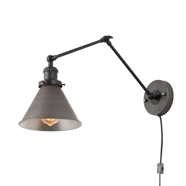 Carbon Loft Demille Swing Arm Wall Lamp