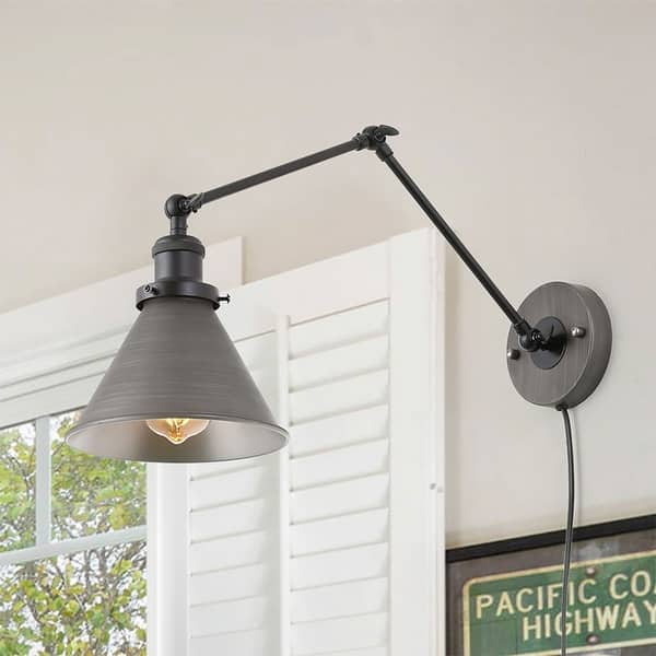 Shop Carbon Loft Demille Swing Arm Wall Lamp Adjustable Wall