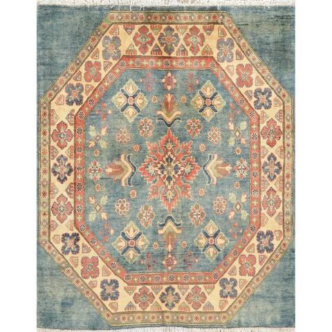 "Traditional Kazak Oriental Carpet Hand Knotted Wool Pakistani Rug - 4'7"" x 4'9"" Square"