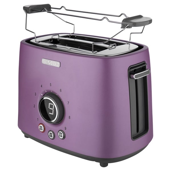 Sencor STS6053VT 2-slot Toaster with Digital Button and Rack, Violet
