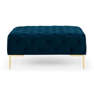 Kardiel Mid-century Umbria 36 Ottoman (Blue - Polyester - Assembly Required)