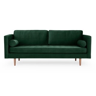 Kardiel Mid-Century Dwell 81  Fabric Sofa - Width 81.5 x Depth 37.4 x Height 34.3 (Green - Fabric - Square Arms)