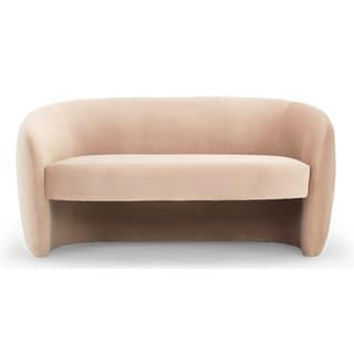 Kardiel Mid-Century Miranda 60 Fabric Sofa - Width 60.6 x Depth 31.1 x Height 30.3 (Beige - Polyester - Round Arms)