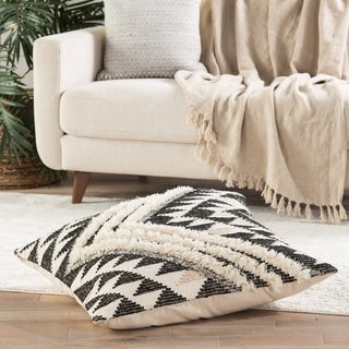 Nikki Chu Nomadic Chevron Cream/ Black Floor Pillow 32 inch