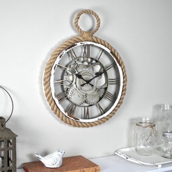 FirsTime & Co.® Nautical Gears Wall Clock