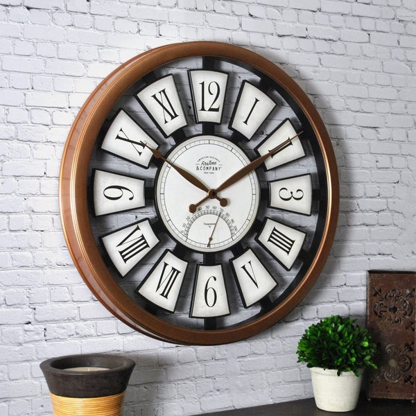 FirsTime & Co.® Outdoor Plaques Wall Clock