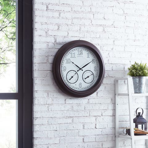 FirsTime & Co.® Luminous LED Outdoor Clock - 18""