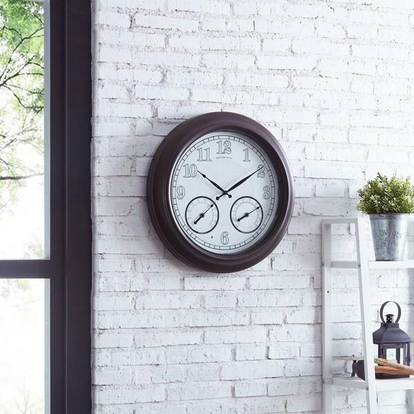 "FirsTime & Co.® Luminous LED Outdoor Clock - 18"""