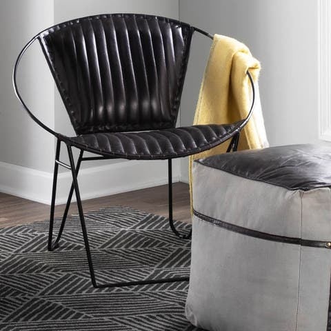 Carbon Loft Cowling Industrial Leather Chair - N/A
