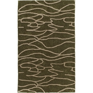 Addison Calabar Abstract Wave Shag Area Rug