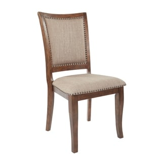 OSP Home Furnishings Alba Antique White Dining Chair (Set of 2) (As Is Item)