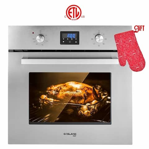"Gasland Chef 24"" Built-in Electric Single Wall Oven, 9 Cooking Function, Digital DisplayStainless Steel With Cooling Down Fan"