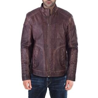 XRAY Jeans Men's Faux Leather Moto Jacket