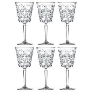 Link to Majestic Gifts Inc. Crystal Wine/ Water Goblets Set/6 w/ Textured Design- 11oz. -Made in Europe Similar Items in Glasses & Barware