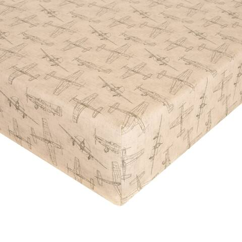 Airplanes - Natural Fitted Sheet
