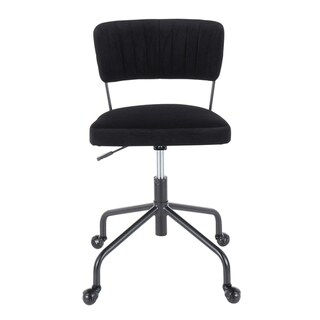 Tania Task Chair in Black Metal & Velvet - N/A (Black)