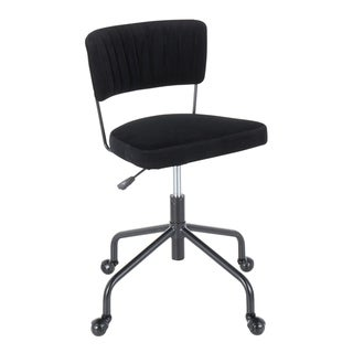 Tania Task Chair in Black Metal & Velvet