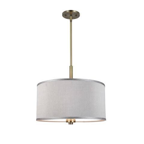 Woodbridge Lighting 13420BRB-S118 Drum 18-inch Pendant