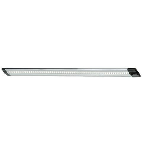 Instalux 20-in LED Brushed Nickel Linkable Plug-In Under Cabinet Light - 20-in W x 0.5-in H x 1.25-in D
