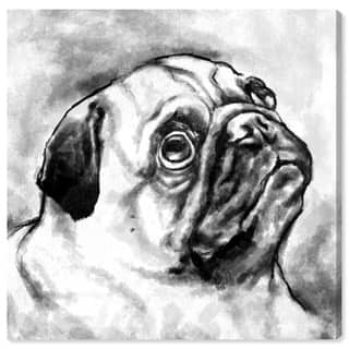 Wynwood Studio 'Pug' Animals Wall Art Canvas Print - Black, White