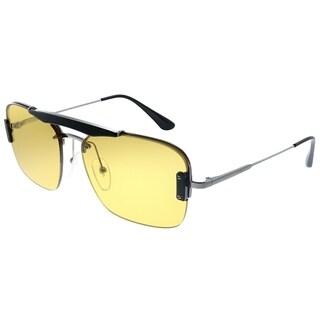 Prada Conceptual PR 56VS M4Y0B7 Unisex Black Frame Yellow Lens Sunglasses
