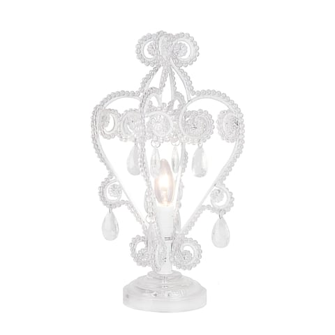 "15.75"" Clear Acrylic Accent Table Lamp W/ Iron & Acrylic Lamp Shade"