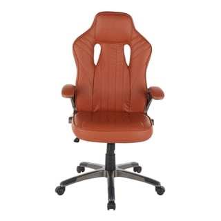 Monza Contemporary Faux Leather Office Chair - N/A (Brown)