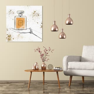 Wynwood Studio 'Soft Sunset Perfume' Fashion and Glam Wall Art Canvas Print - White, Orange